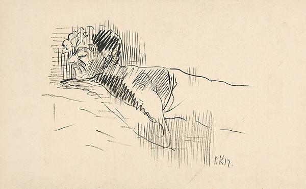 Arnold Peter Weisz-Kubínčan - Náčrt spiaceho muža