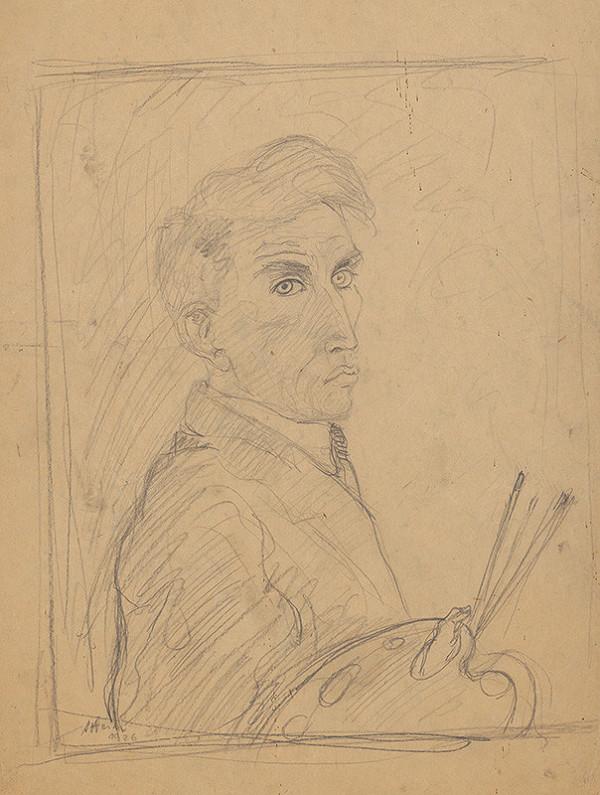Arnold Peter Weisz-Kubínčan – Autoportrét s paletou