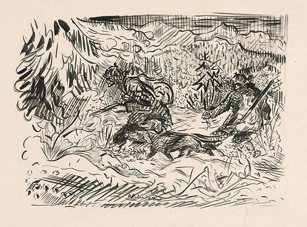 Arnold Peter Weisz-Kubínčan - Zimná poľovačka