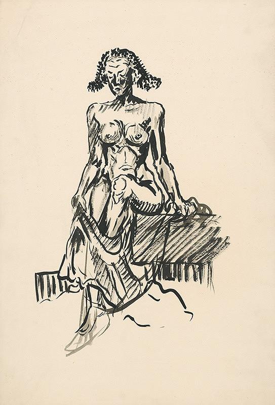 Arnold Peter Weisz-Kubínčan – Sediaci ženský akt