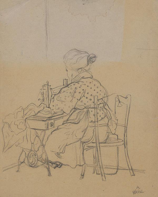 Arnold Peter Weisz-Kubínčan - Žena pri šijacom stroji
