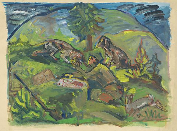 Arnold Peter Weisz-Kubínčan – Poľovnícky motív