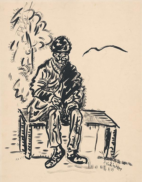 Arnold Peter Weisz-Kubínčan - Chlap sediaci na lavičke