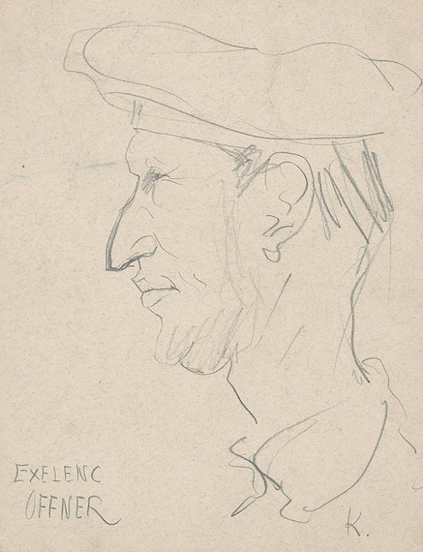 Arnold Peter Weisz-Kubínčan – Hlava muža z profilu