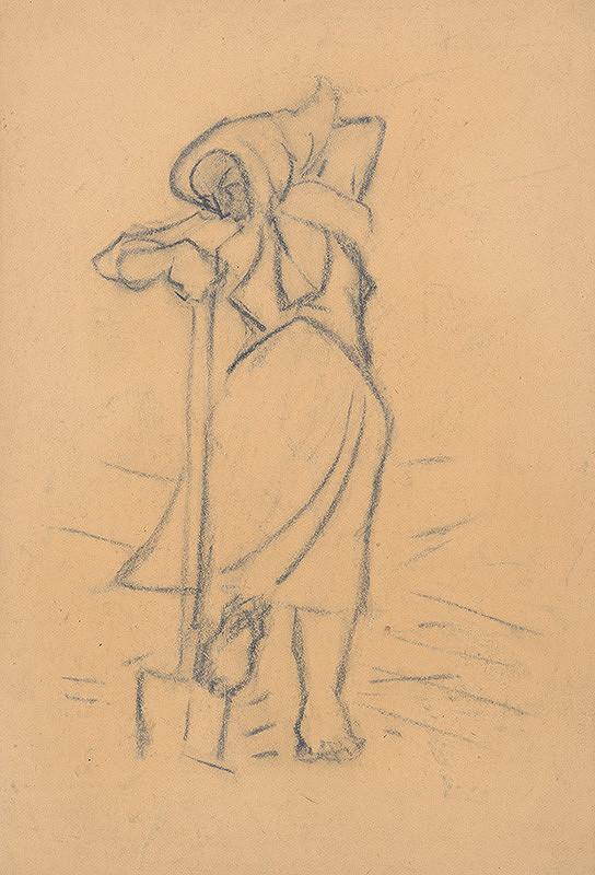 Arnold Peter Weisz-Kubínčan - Žena s rýľom