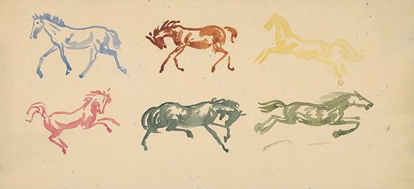 Arnold Peter Weisz-Kubínčan – Náčrty cválajúcich koní