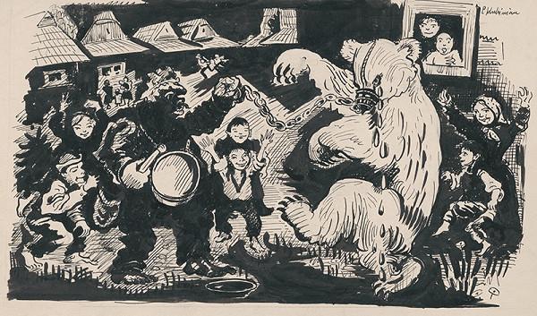 Arnold Peter Weisz-Kubínčan - Komediant s medveďom