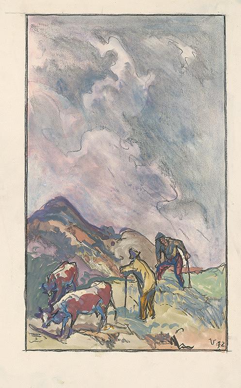 Jaroslav Vodrážka - Pastieri kráv