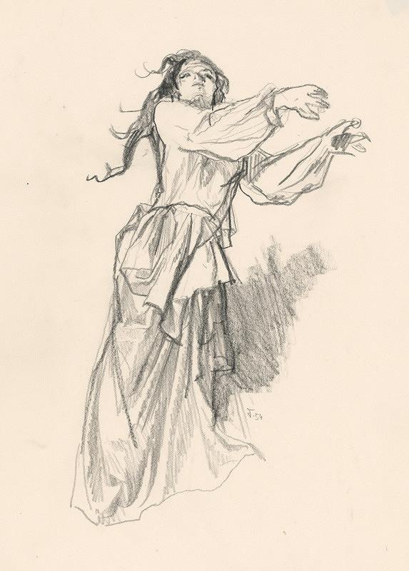 Jaroslav Vodrážka - Kresba ženskej postavy