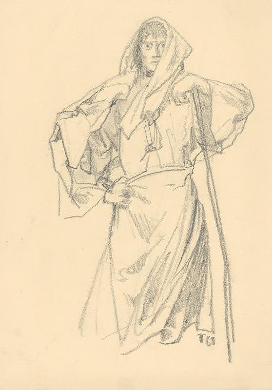 Jaroslav Vodrážka - Žena opierajúca sa o palicu
