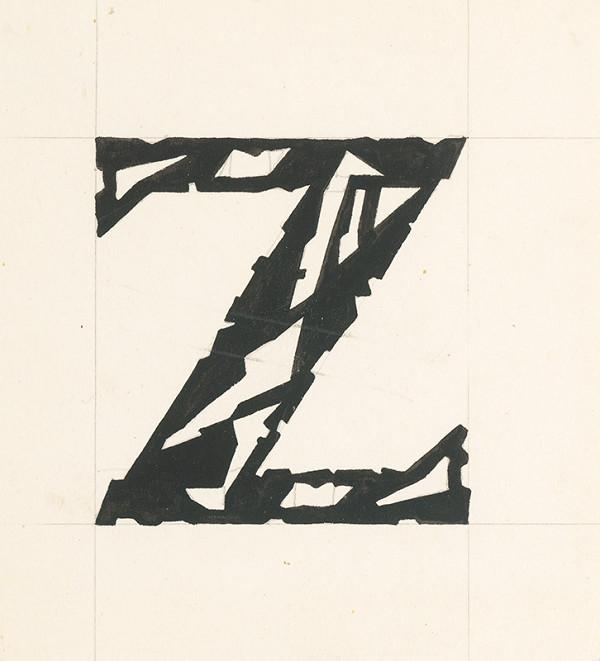 Ľudovít Fulla - Iniciála - Z