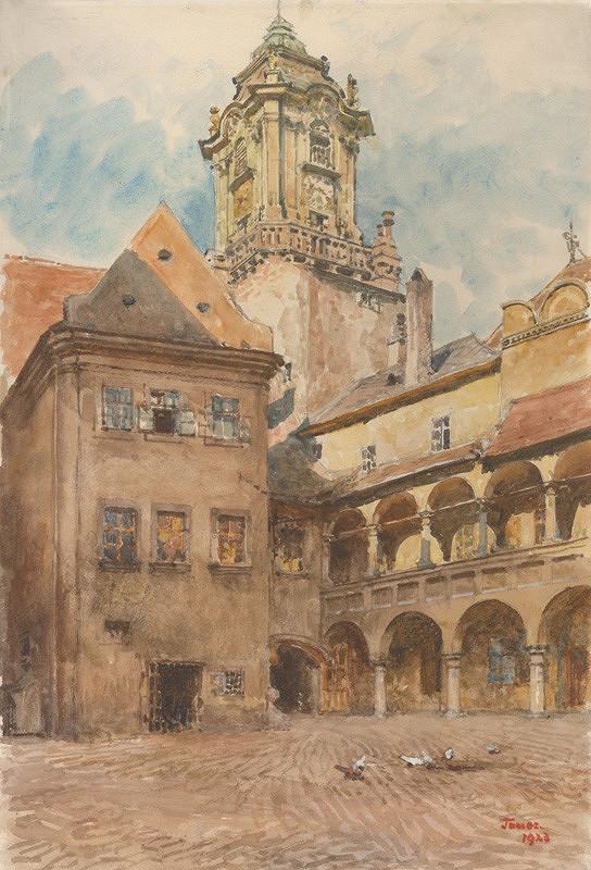 Jindřich Tomec – Nádvorie Starej radnice v Bratislave