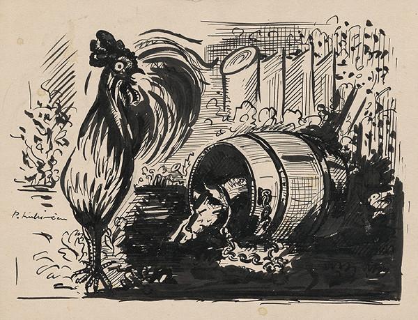 Arnold Peter Weisz-Kubínčan - Kohút a pes