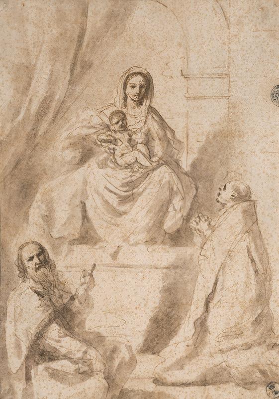 Taliansky majster zo 17. - 18. storočia, Guercino – Madona