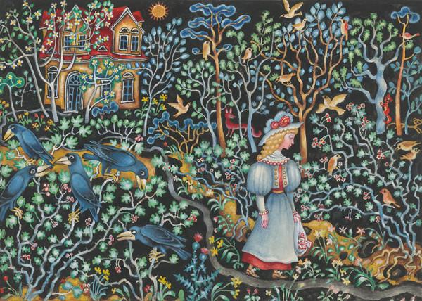 Ján Trojan - Dievča a havrany