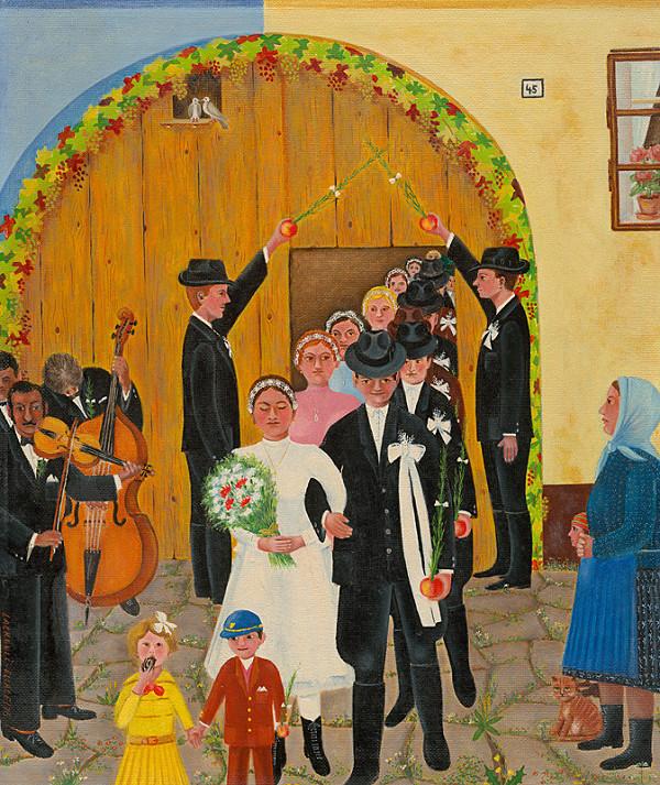 Jozef Lackovič – Svadba - vychádzanie z dvora