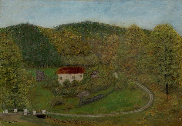 Zuzana Virághová - Krajina s domkom