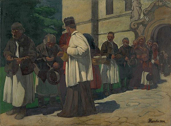 Jozef Hanula - Almužna (štúdia k obrazu Chudobní)