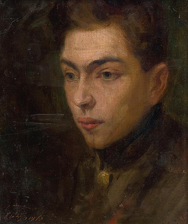 Ľudovít Pitthordt - Štúdia hlavy mladého muža