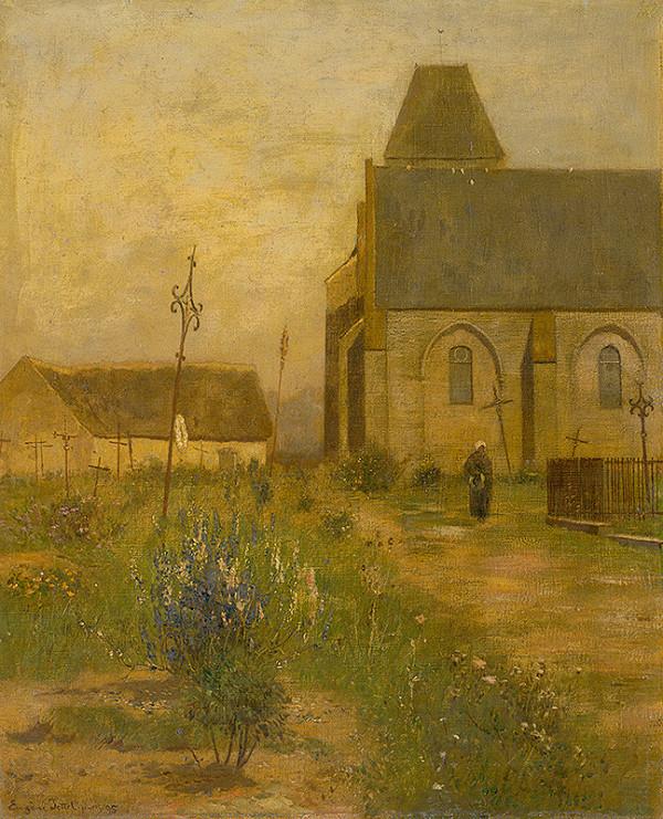 Eugen Jettel – Krajina s kostolom a cintorínom
