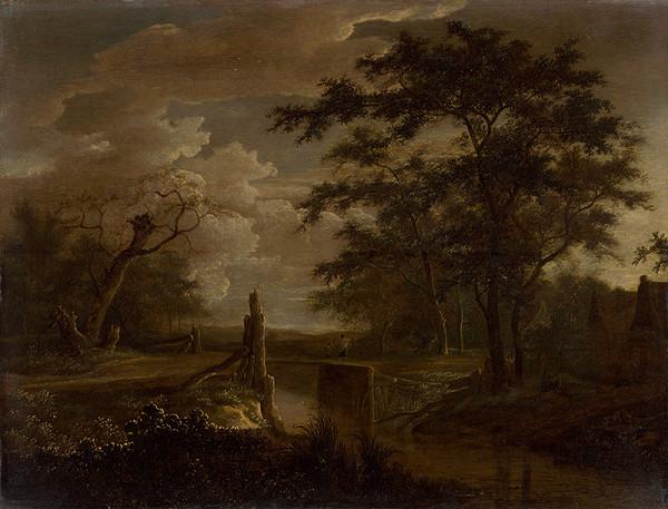 Adriaen Hendricksz. Verboom - Krajina s potokom a mostom