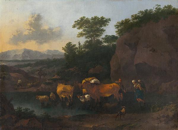 Nicolaes Claes Berchem st., Abraham Begeyn – Brod