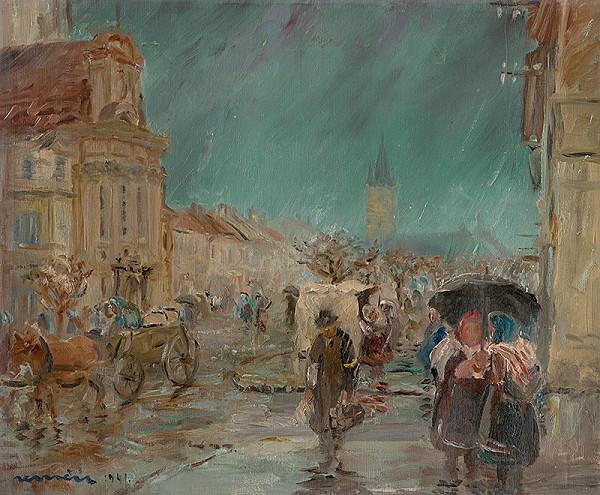 Július Nemčík - Prešov v daždi