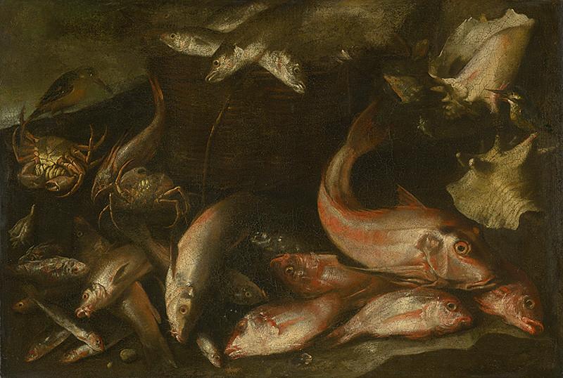 Taliansky maliar – Zátišie s rybami, 1650 – 1670