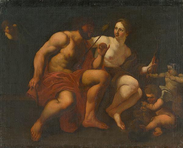 Autor kópie neznámy, Michel Dorigny, Simon Vouet – Herakles a Omfale
