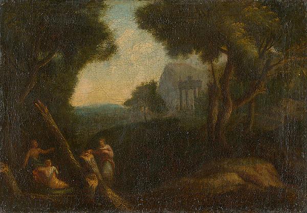 Francúzsky maliar z konca 17. storočia - Nymfy v lese