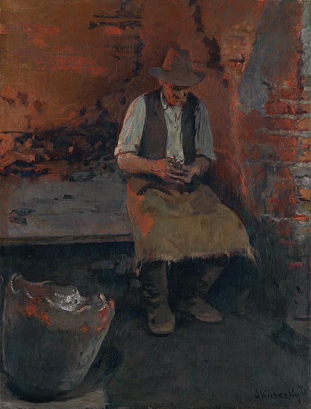 Dominik Skutecký – Chvíľa oddychu, okolo 1915, Slovenská národná galéria