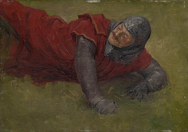 Jozef Hanula – Štúdia raneného vojaka. Štúdia k obrazu Tomoryho bitka pri Moháči
