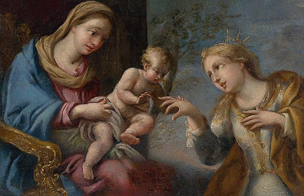 Taliansky maliar z 18. storočia – Zasnúbenie sv. Kataríny