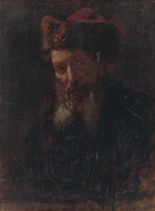 Július Štetka – Štúdia hlavy starca
