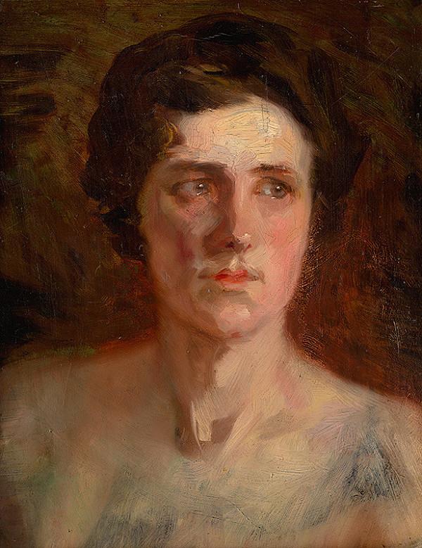 Ľudovít Pitthordt – Štúdia ženskej hlavy
