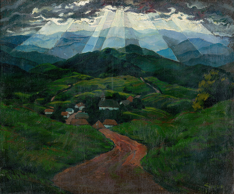 Edmund Gwerk – Stredoslovenská krajina, 1925, Slovenská národná galéria