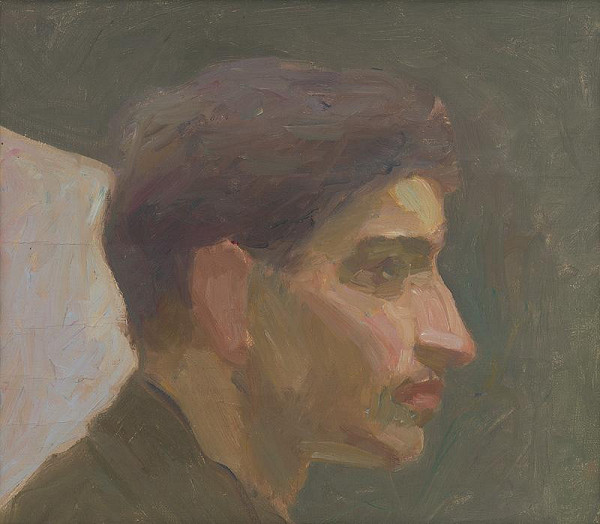 Eduard Putra - Štúdia hlavy mládenca