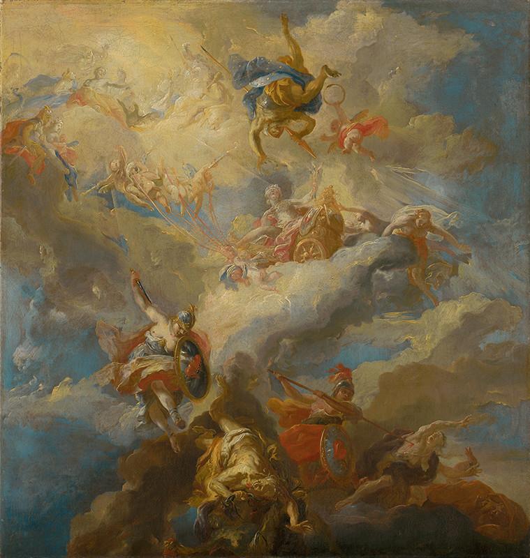 Johann Michael Rottmayr (pravdepodobne) – Triumf lásky, pred 1720, Slovenská národná galéria, voľné dielo