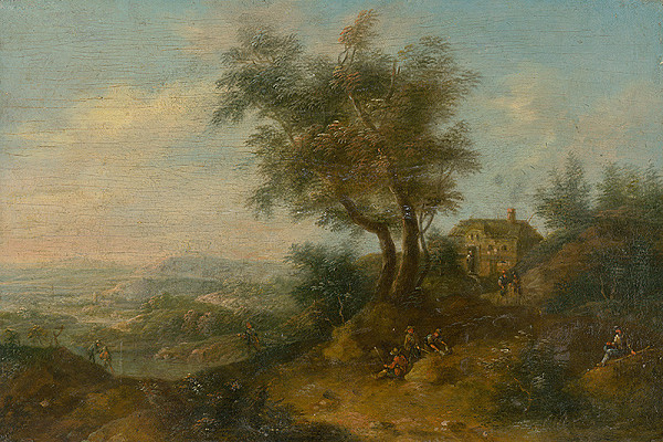 Stredoeurópsky maliar z 2. polovice 18. storočia – Krajina s figurálnou štafážou