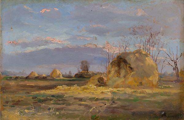 Ferdinand Katona - Jarná krajina so stromami