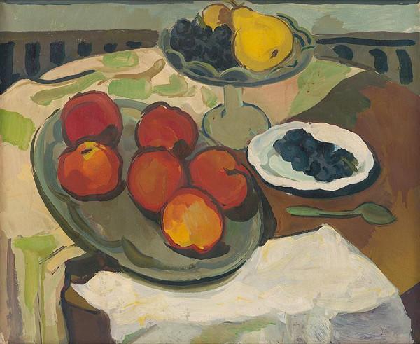 Milan Paštéka – Zátišie s červenými jablkami