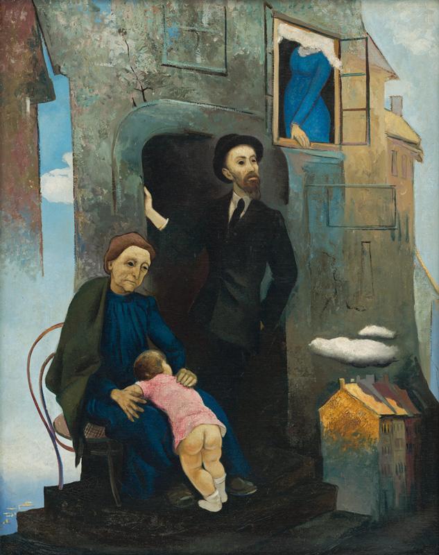 Imrich Weiner-Kráľ – Židovská ulica III., 1935, Slovenská národná galéria