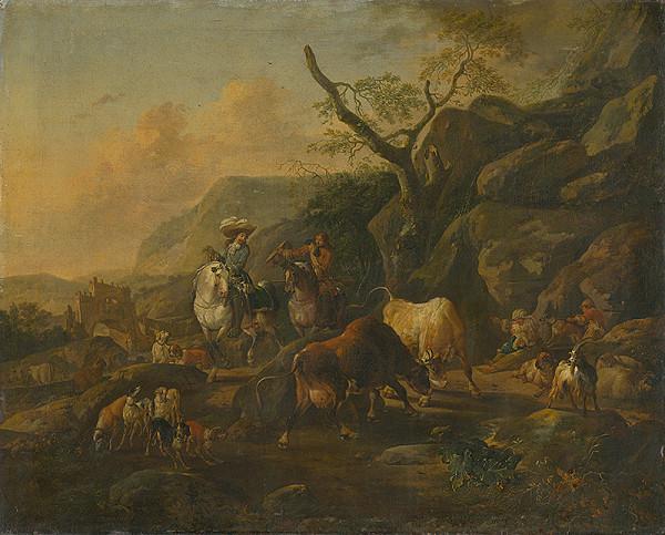 Johann Heinrich Roos - Krajina s lovcami
