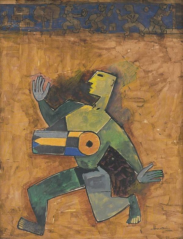 Maqbool Fida Husain – Bubeník