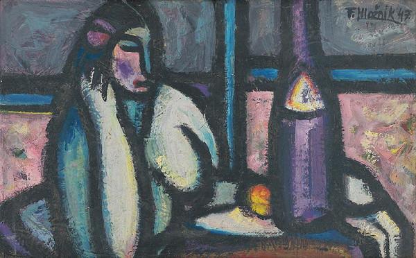 Ferdinand Hložník - Žena pri stole