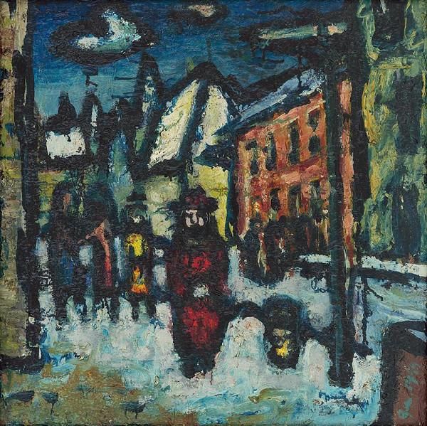 Ladislav Guderna - Ulica v zime