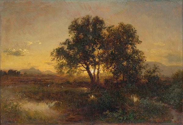 Alexander Brodszky – Podvečerná krajina