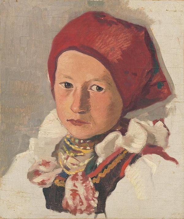 Vladimír Gessay - Sedliacke dievča v červenej šatke