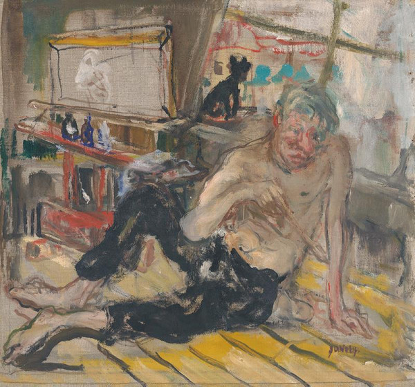 Július Jakoby - Maliar s čiernou mačkou