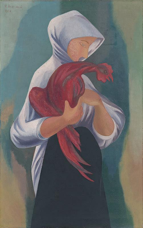 Ester Šimerová-Martinčeková – Žena s červeným kohútom